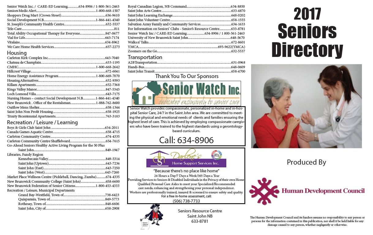 Saint John Seniors Directory