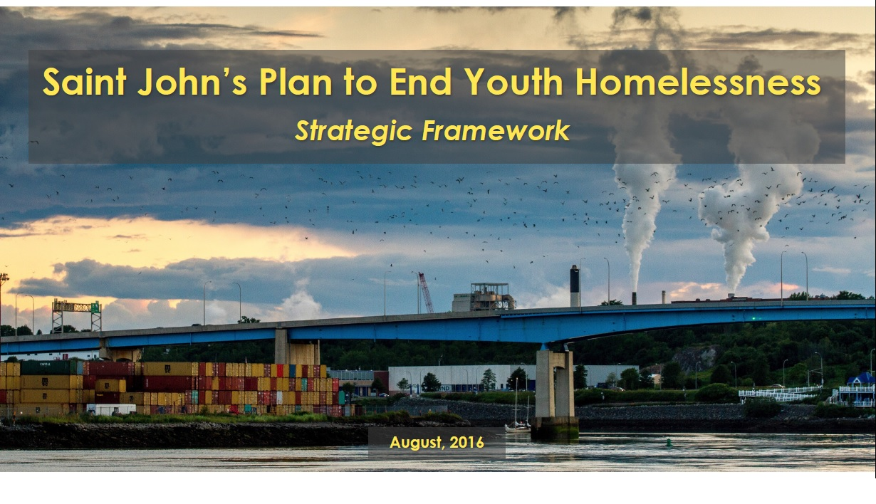 Saint John's Plan to End Youth Homelessness – Strategic Framework