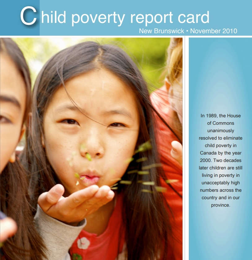 2010 New Brunswick Child Poverty Report Card