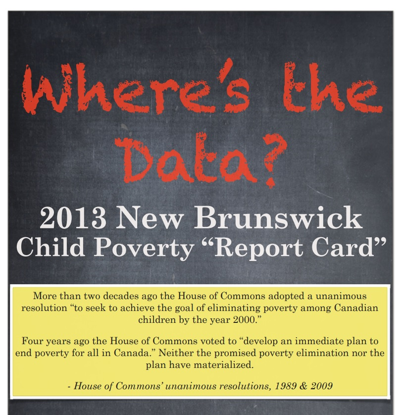 2013 New Brunswick Child Poverty Report Card