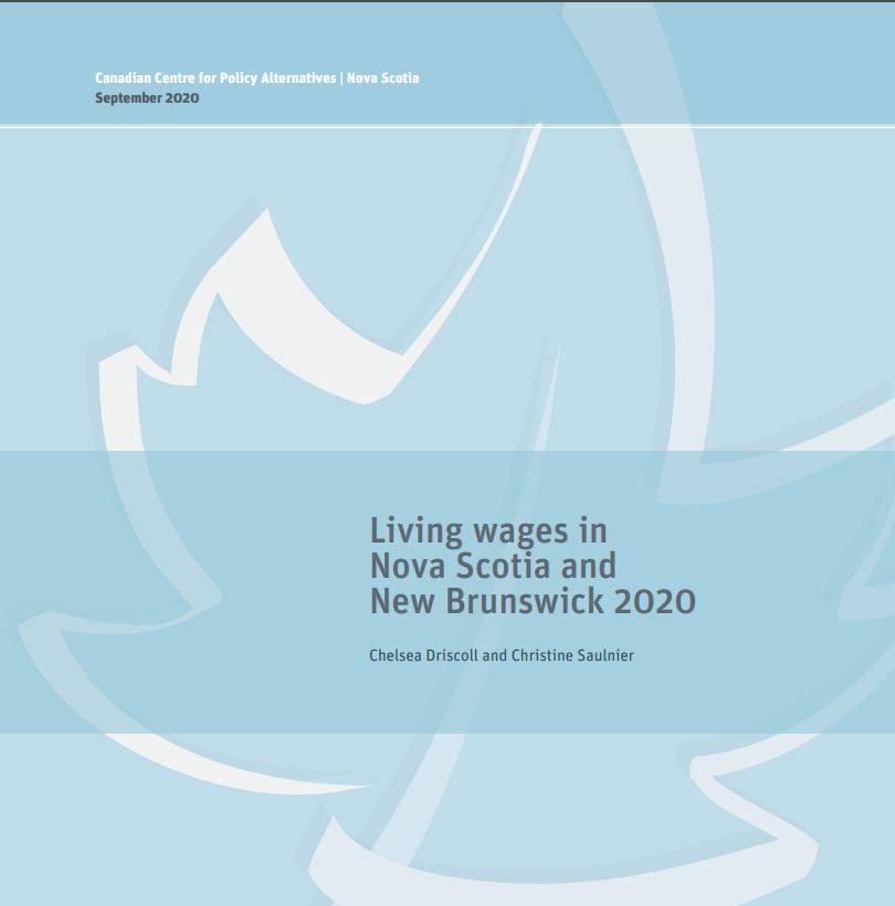 Living Wage Report for New Brunswick & Nova Scotia