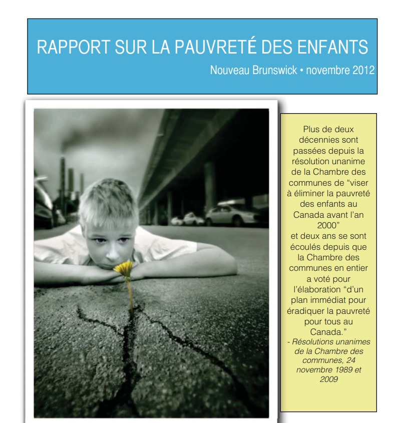 2012 New Brunswick Child Poverty Report Card