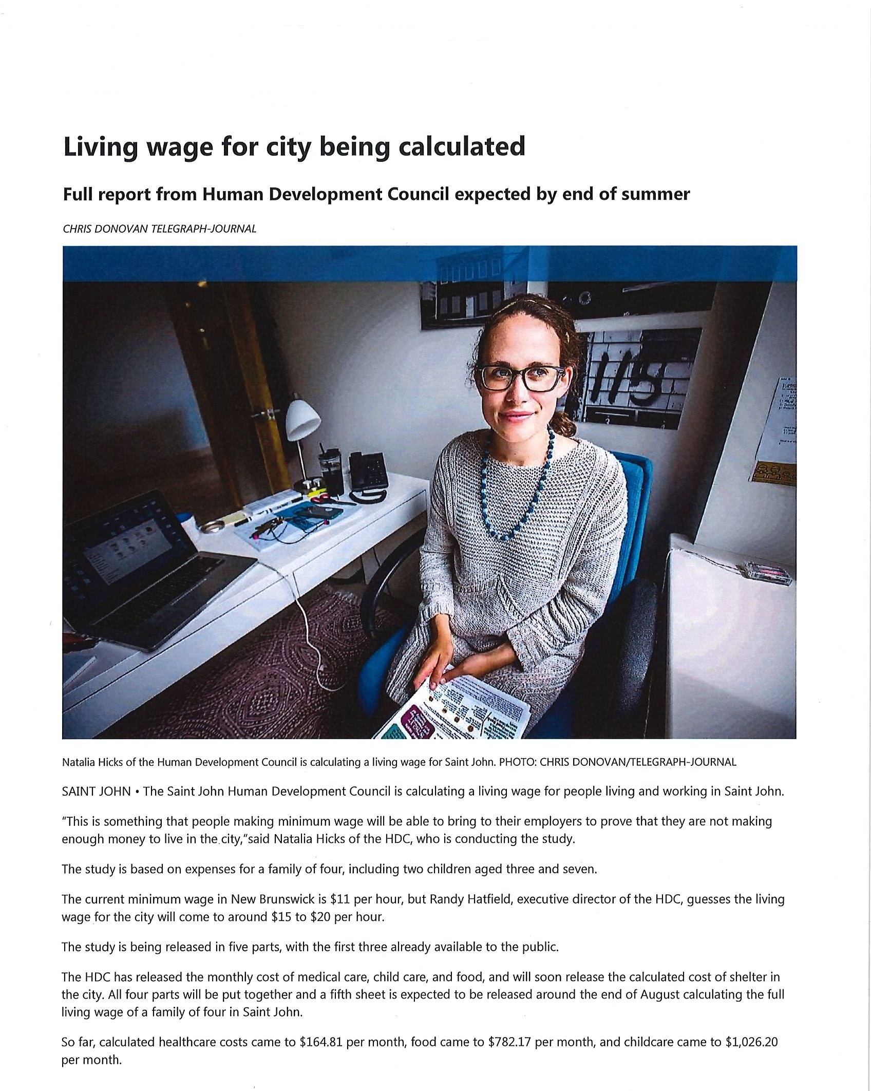 Calculating Living Wage