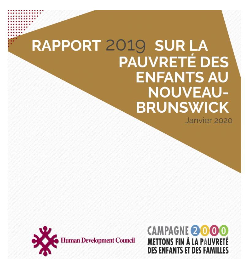 2019 New Brunswick Child Poverty Report Card